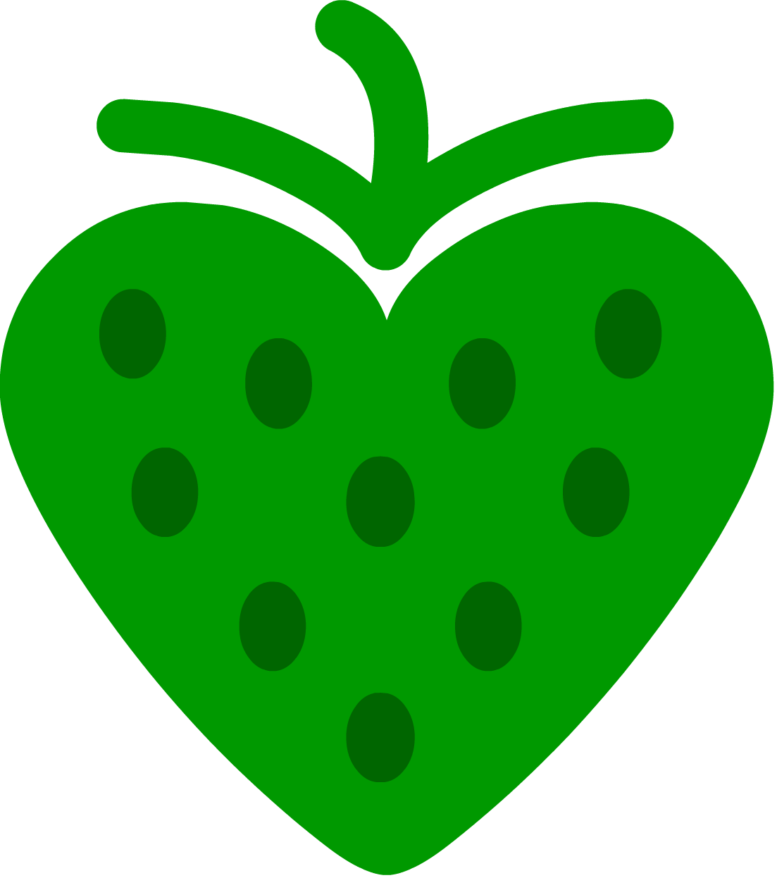 strawberry heart GREEN